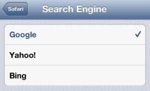 iOS search