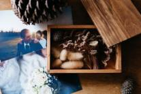 Photos and wood box