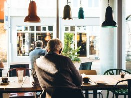 man in cafe