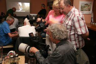 Anschließend durften die Kameras begutachtet werden.