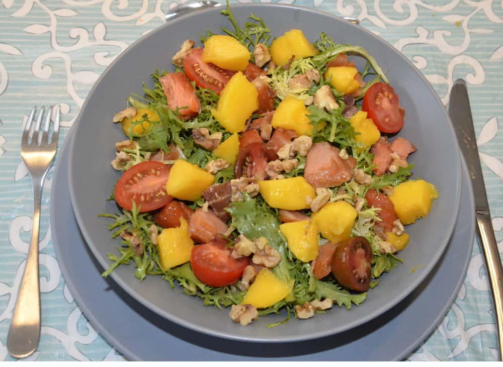Salade De Mangue Et Saumon Fum Ma Cuisine Sant