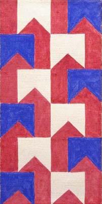 Alfredo Volpi, Bandeirinha, 1958, têmpera s/ tela, 44,2 x 22,1 cm