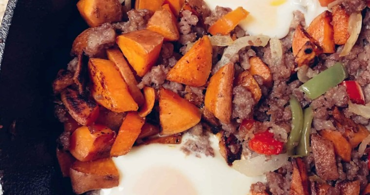 Sweet Potato Hash With Sausage- Whole 30 Approved