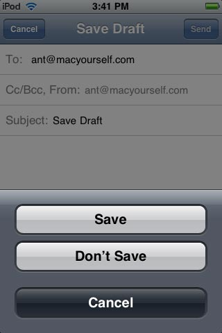 Save emails as drafts
