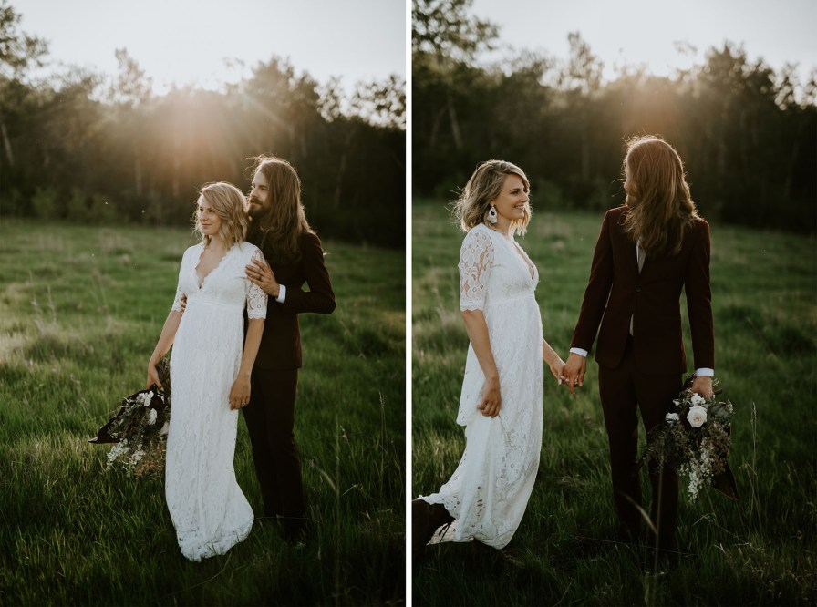 sunset elopement