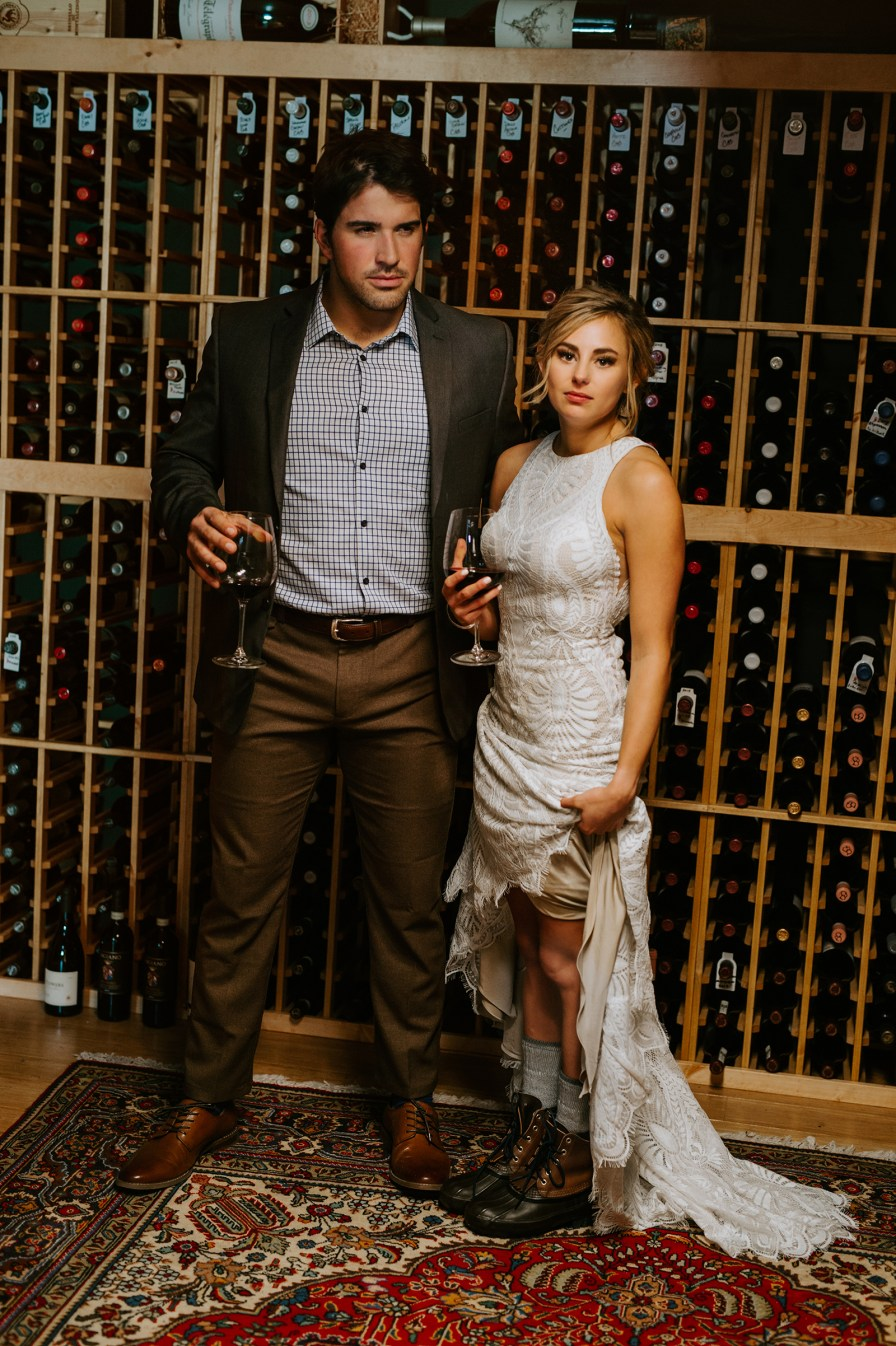 wine cellar wedding