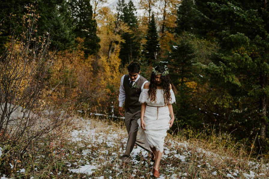 intimate bozeman wedding