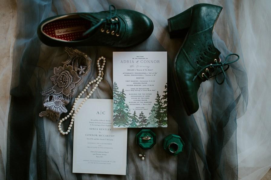 green wedding details