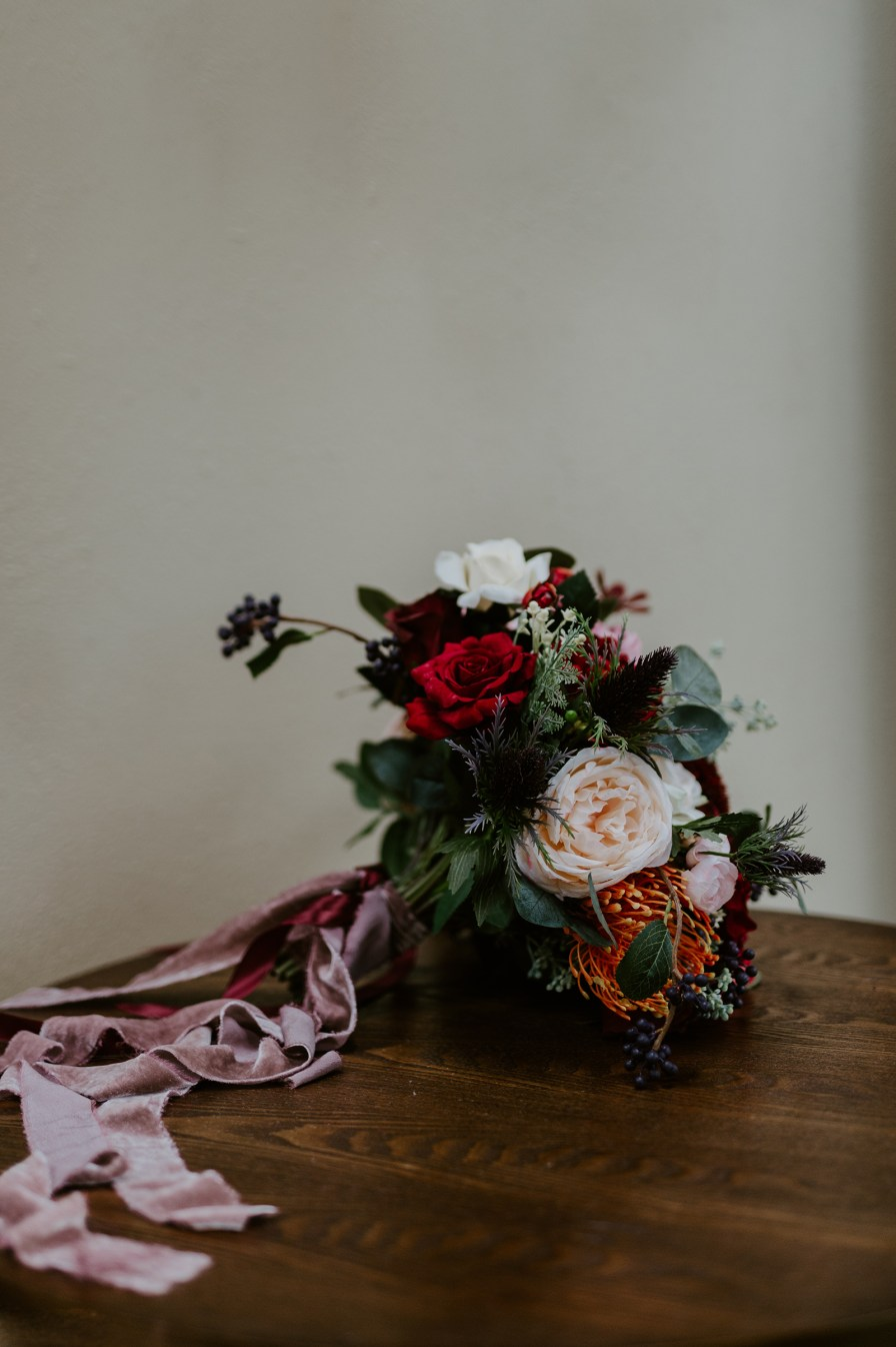 velvet ribbon bouquet