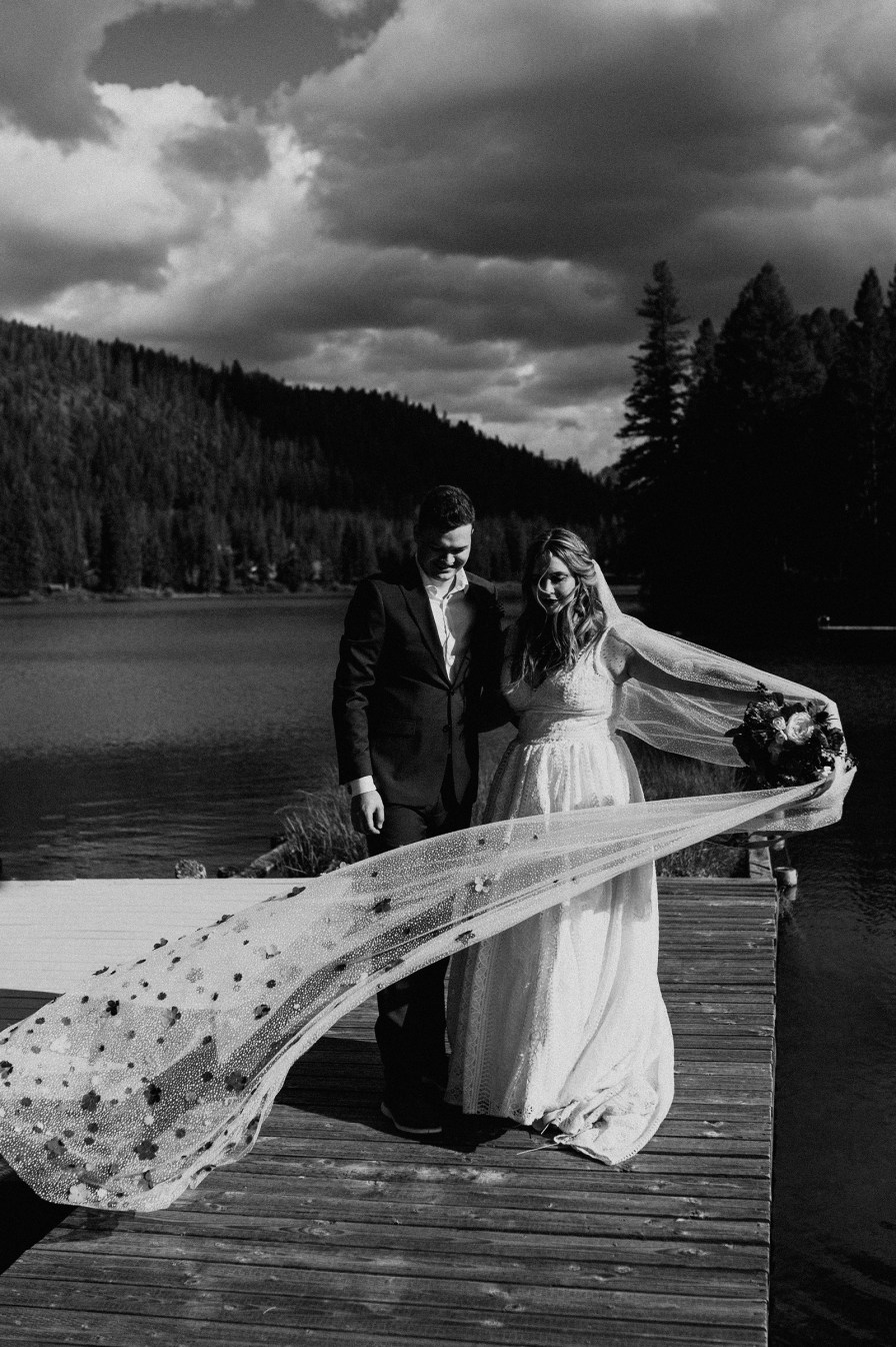 mountain lake wedding