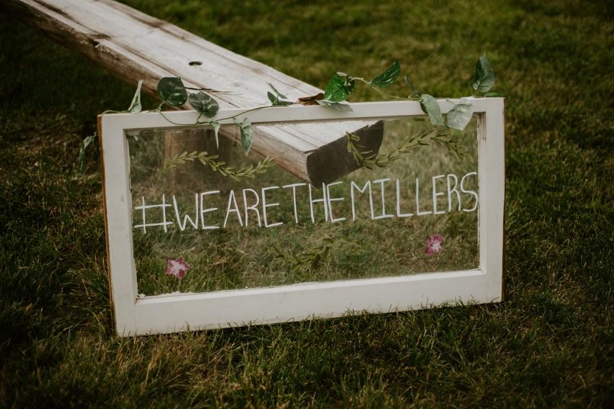 window wedding sign