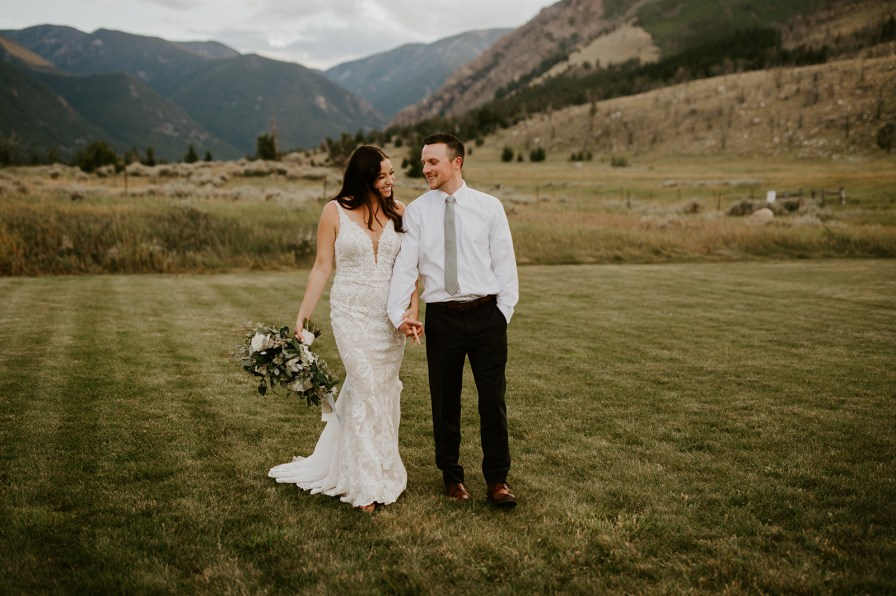 Rock creek resort wedding Red Lodge Montana