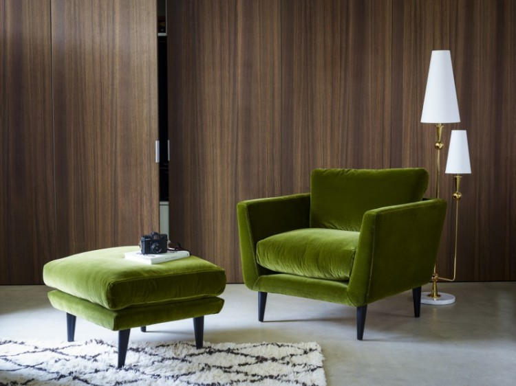 Green Velvet Armchair Mad About The House
