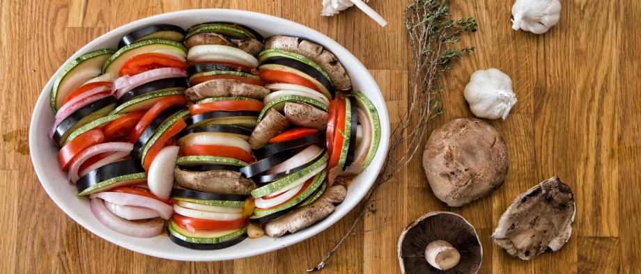 Μπριάμ στον φούρνο με καλοκαιρινά λαχανικά