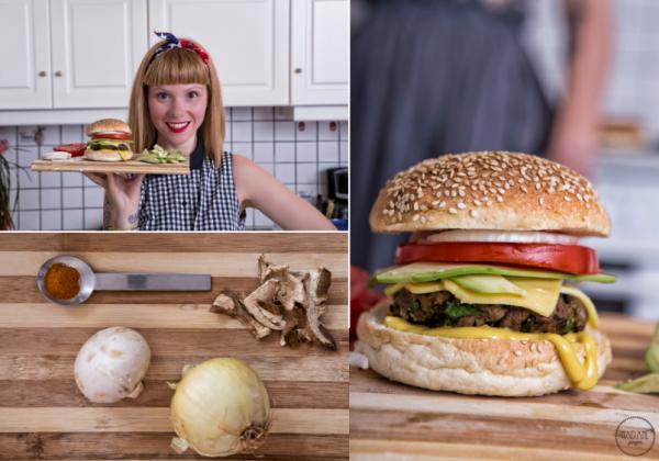 Vegan Mushroom Burger 1