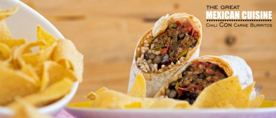Burritos με Chili con Carne