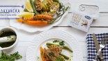 Ψητό φιλέτο τόνου με λαχανικά και salsa verde