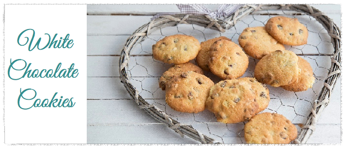 Μαλακά μπισκότα με λευκή σοκολάτα & cranberries
