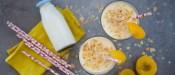 Smoothie ροδάκινο με γιαούρτι & αμύγδαλα