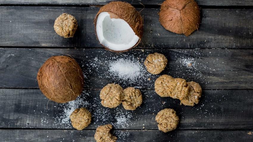Μπισκότα καρύδας χωρίς ζάχαρη