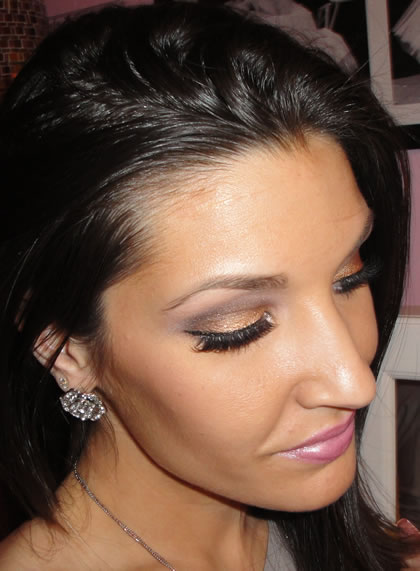 Model wearing Ardell Fashion Lashes #120 Demi and Demi ...