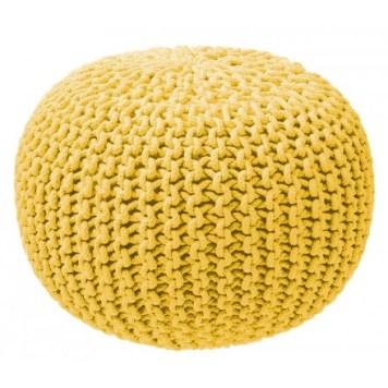 pouf-tricot-jaune