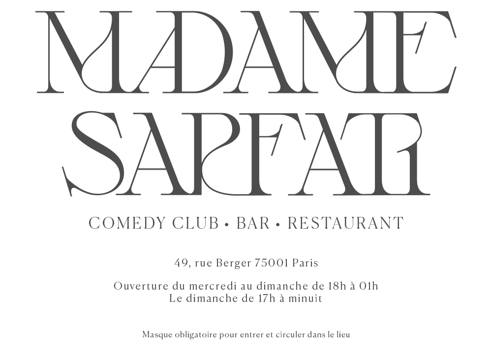 Madame Sarfati Comedy club home