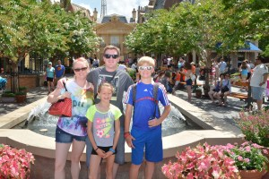 The Family and I at Disney's France Pavilion: EPCOT.