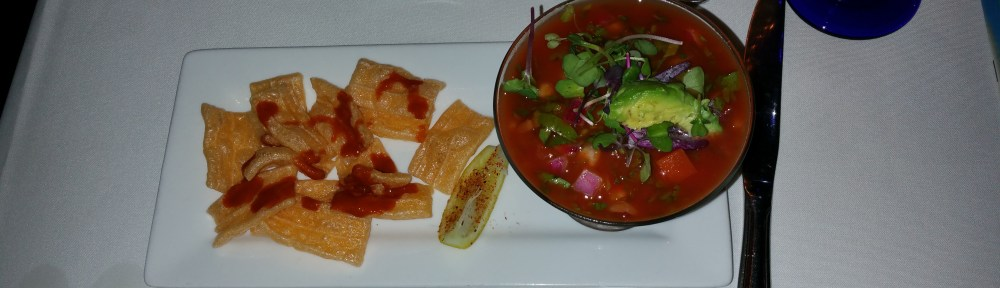Gazpacho at San Angel, Gluten, Dairy, Egg and Soy Free Eating at Disney.