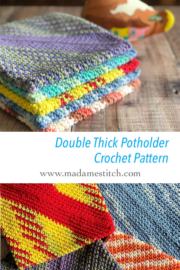 Double Thick Potholder Crochet Pattern Madamestitch