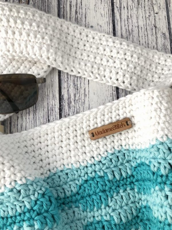 Smooth Waves Crochet Beach Tote