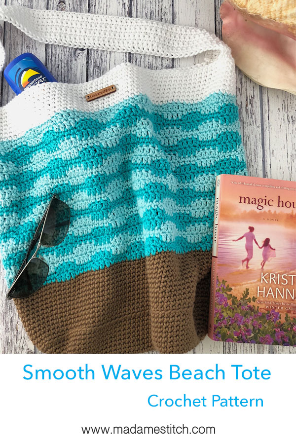 Smooth Waves Beach Tote Crochet Pattern by MadameStitch