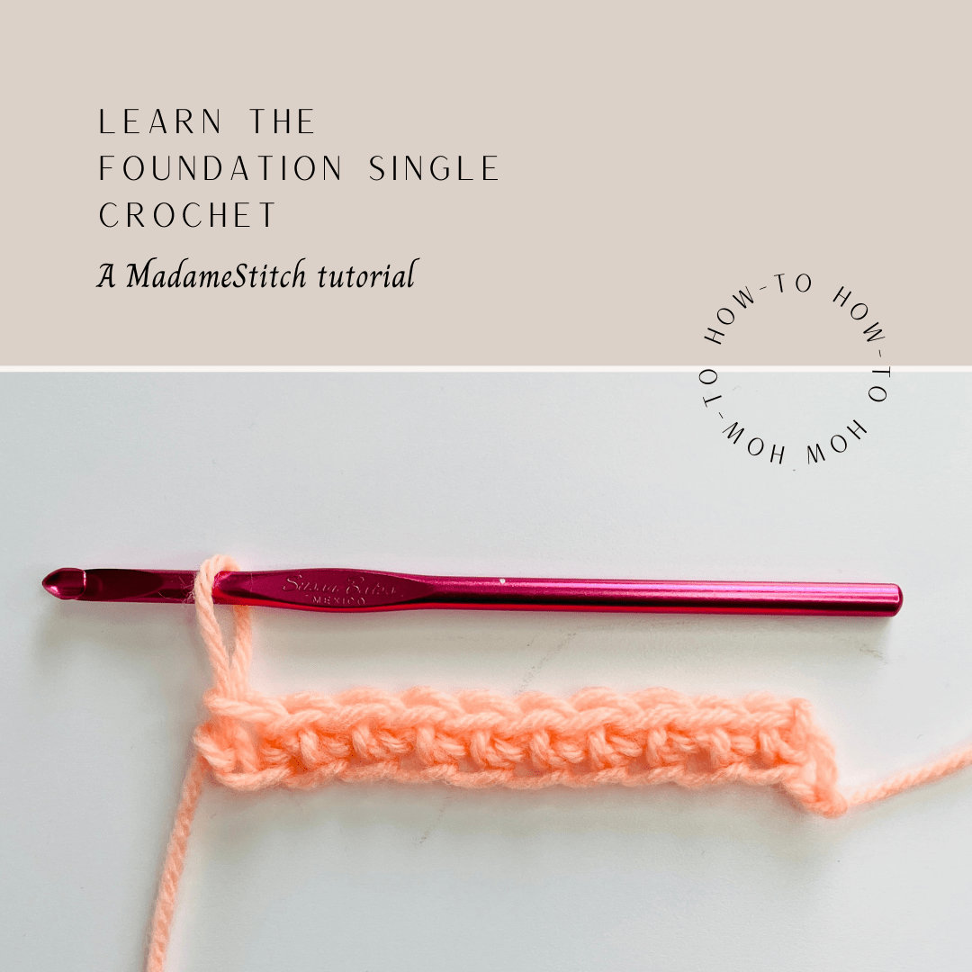 How to crochet the foundation single crochet via @madamestitch
