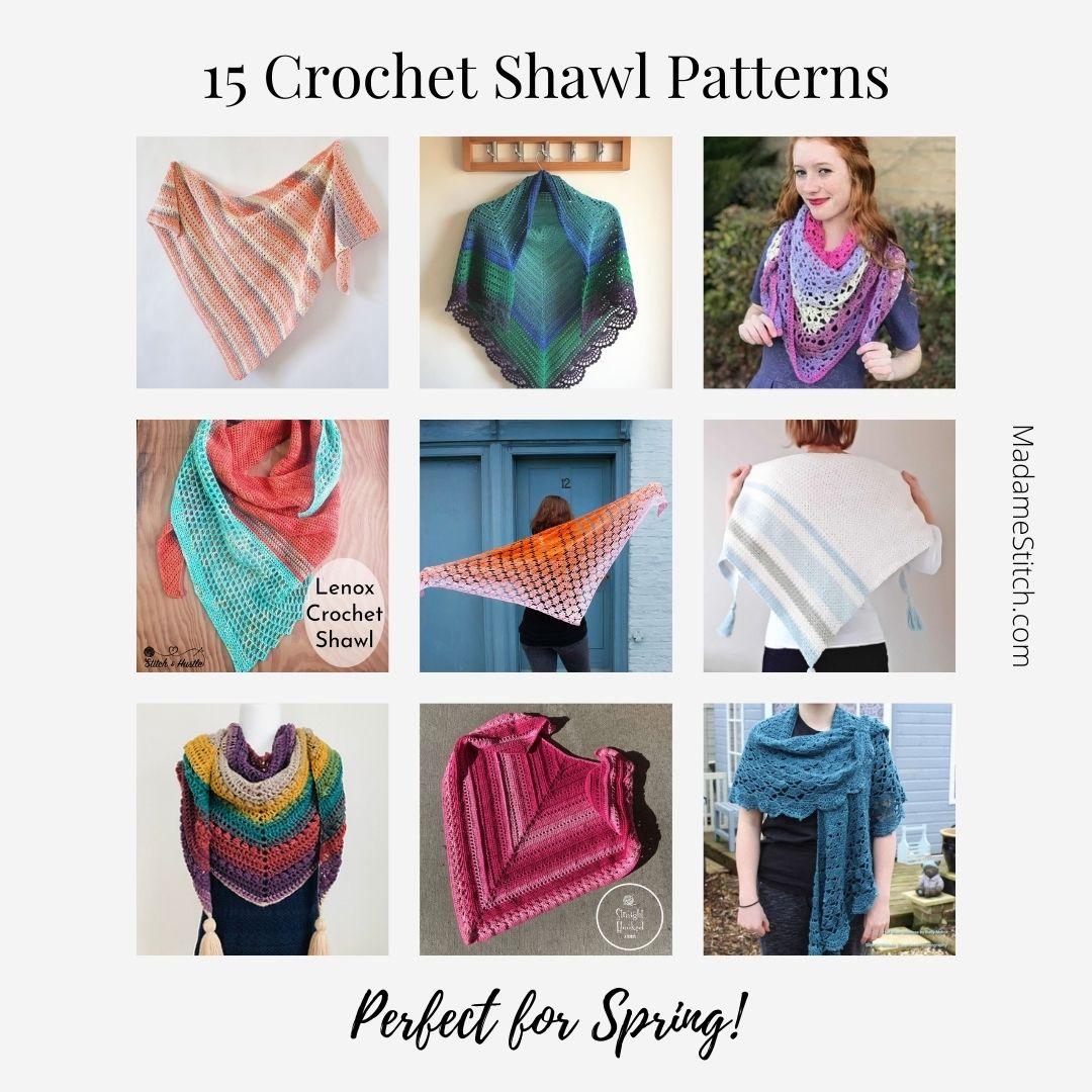 15 Crochet Shawl Patterns  Perfect for Spring via @madamestitch
