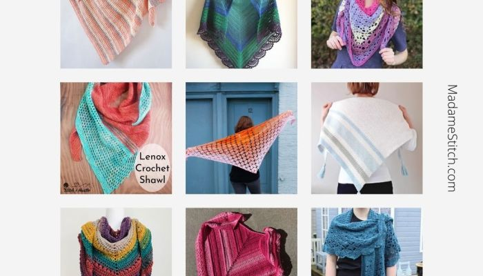 15 Crochet Shawl Patterns perfect for spring