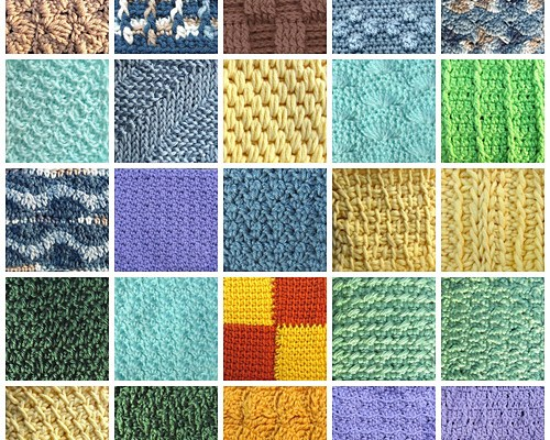 30 Purrfect Stitches for Pet Blankets, an e-book available on Ravelry