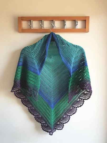 Peafowl Feathers Shawl by Blue Star Crochet