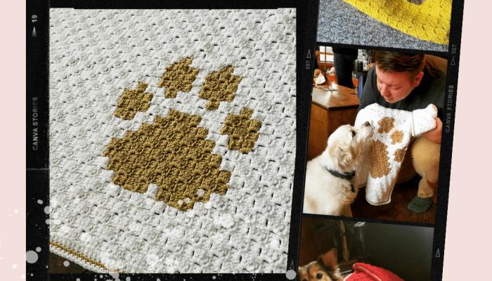 Puppy Love Blanket crochet pattern by MadameStitch