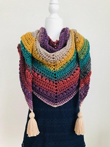 Wrapping Hugs Shawl crochet pattern by Haven Crochet Designs
