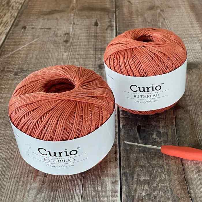 Picture of 2 balls of Curio 3 crochet thread