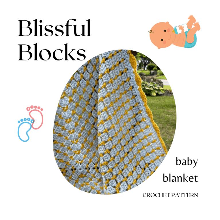 Blissful Blocks Baby Blanket crochet pattern by MadameStitch