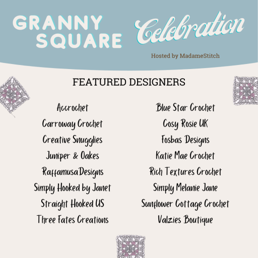 Featured designers for the Granny Square Celebration event