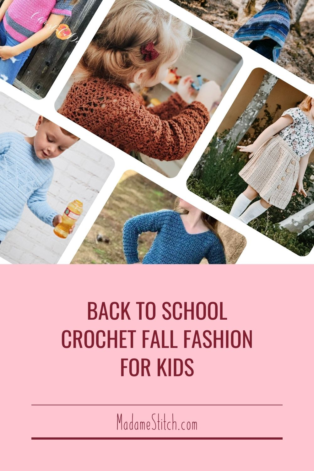 23 back to school fall fashions for kids; crochet clothes patterns