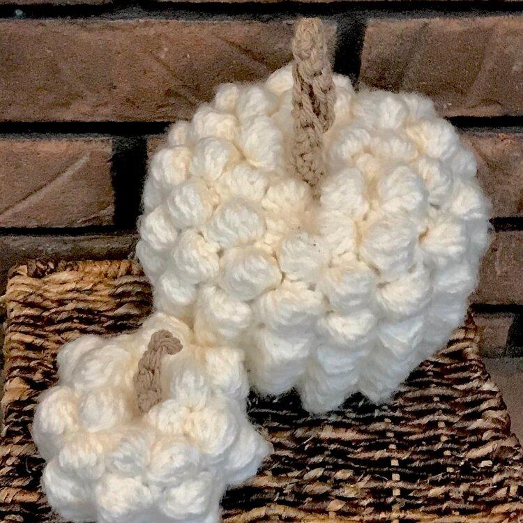 Cozy bobble pumpkin crochet pattern