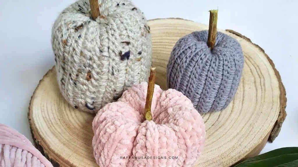 Tunisian pumpkin crochet pattern