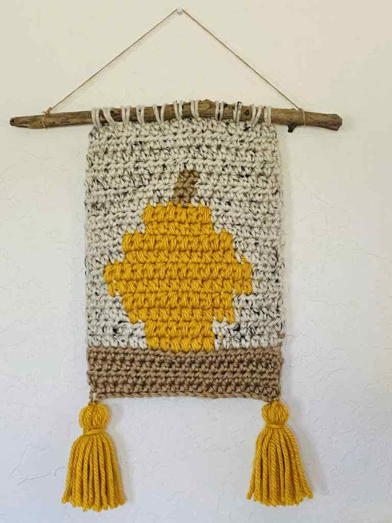 Pumpkin wall hanging crochet pattern