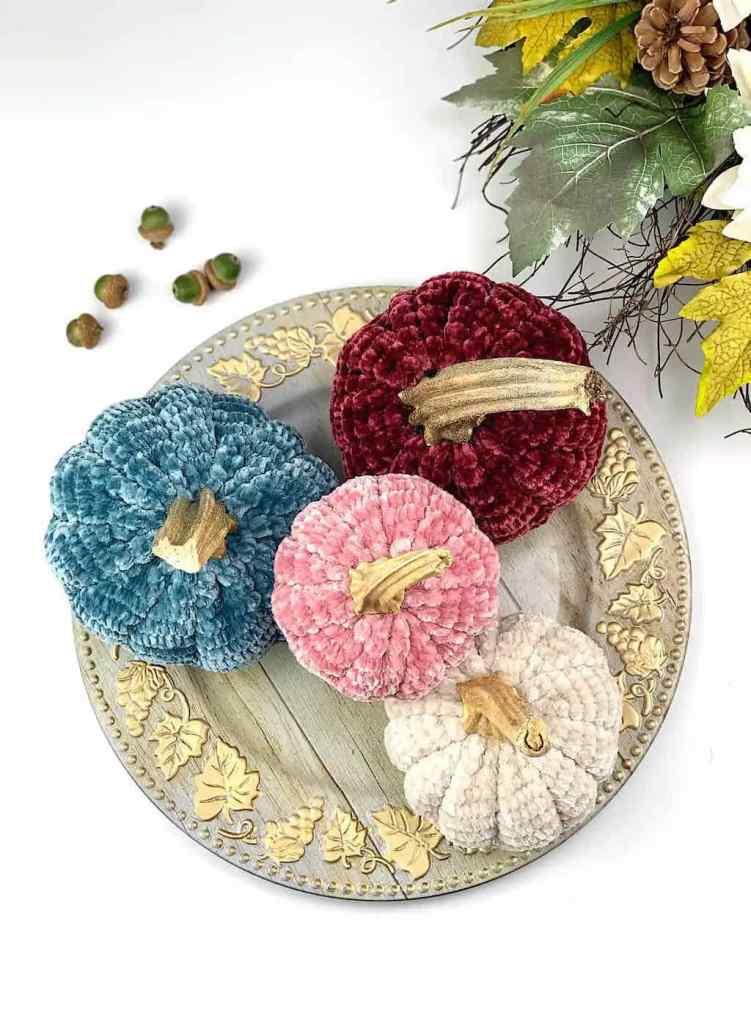 Velvet pumpkin crochet pattern