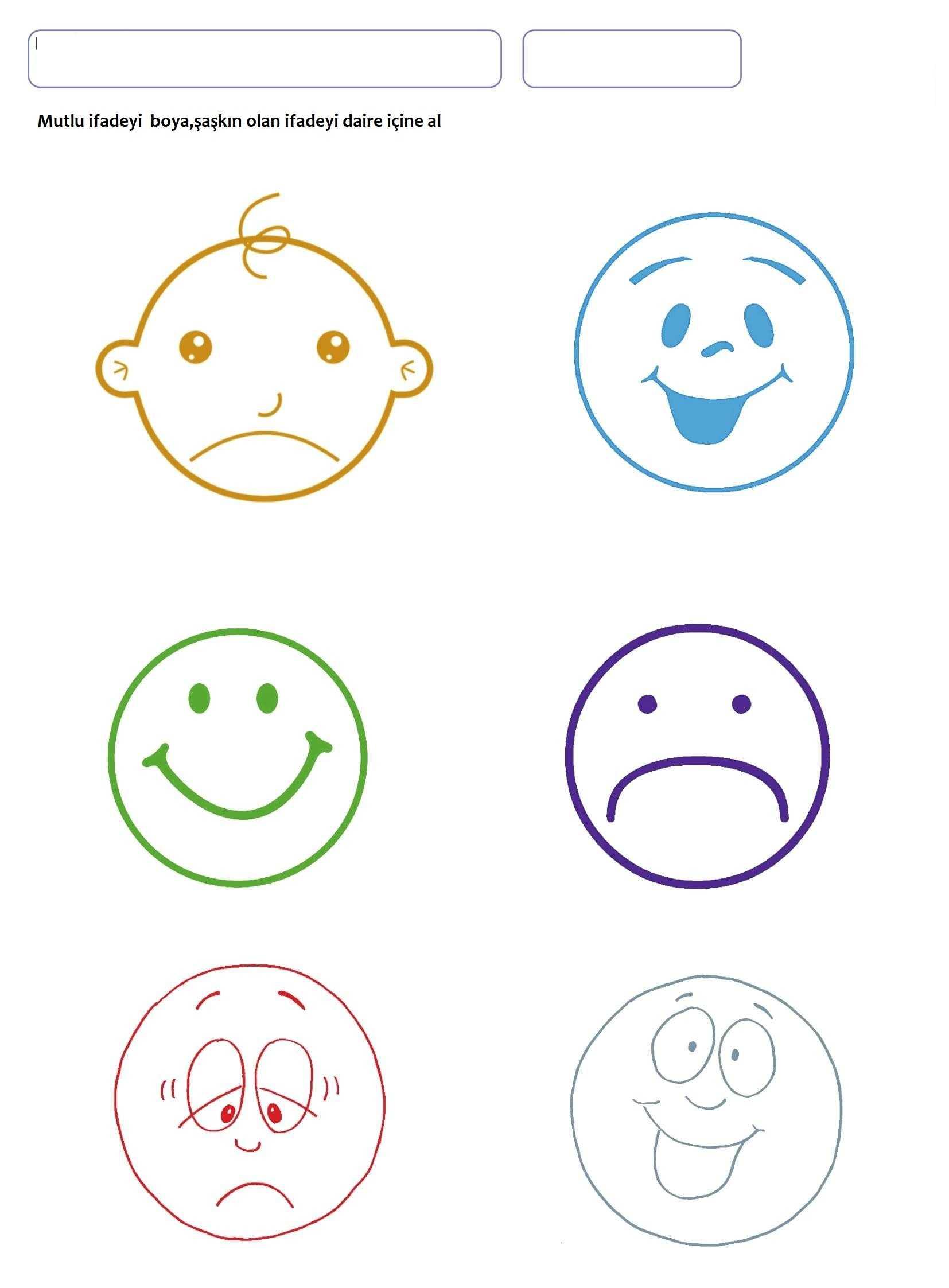 Our Emotions Worksheet