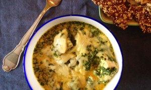 Cremet spinat med ost og kylling