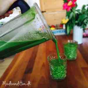 Greenie / grøntsagsmoothie - min grundopskrift